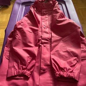 Pink Lands End raincoat size 5/6